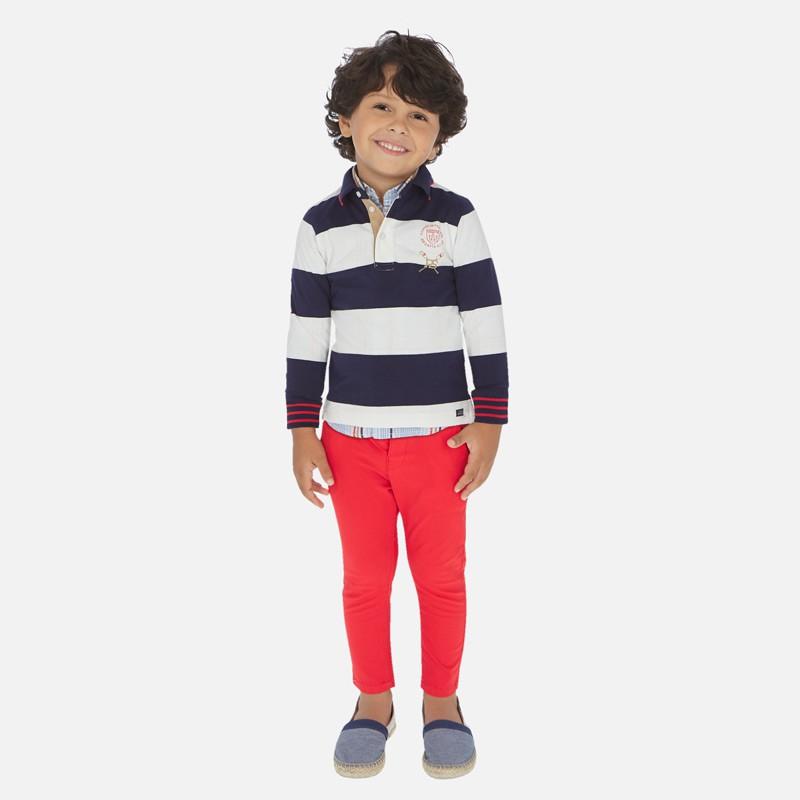 Pantalon Largo Slim Fit Nino Mayoral Color Hibisco
